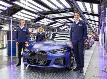 BMWのEVに初の「M」、『i4 M50』は544馬力…生産開始