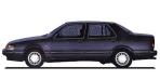 サーブ 9000シリーズ 9000CD2.3ターボ (1990年10月モデル)