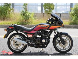 カワサキ/GPZ550 エンジンガード 社外マフラー