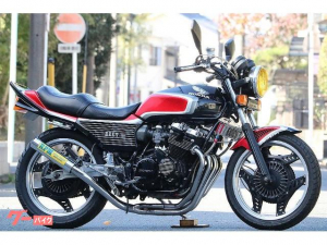 ホンダ/CBX400F 黒赤2型ルック フルBEET RPMマフラー カスタム多数