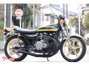 カワサキ/Z-I1973年 タイガーカラー 新品外装 エンジン載せ替え無し キャスト付