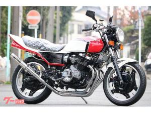 ホンダ/CBX400F 赤白フルBEET 新品パーツ多数 プリティーマフラー メッキパーツ多数 オイルクーラー カスタム多数 セミレストア