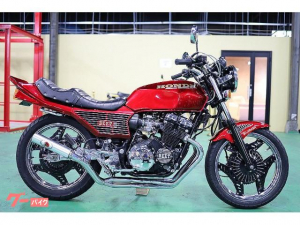 ホンダ/CBX400F 国内物 カスタム多数 カスタムペイント フルメッキ 4-2-1マフラー マーシャル リメイクホイール フルBEET