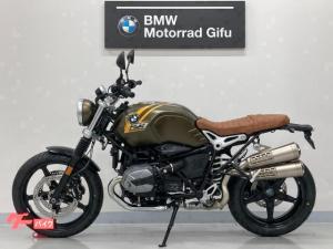 BMW/RnineT スクランブラー ETC2.0 茶革シート グリップヒーター クルコン USB 2本出しマフラー LEDヘッドライト