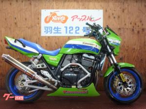 カワサキ/ZRX1100 ライムグリーン 社外マフラー アンダーカウル