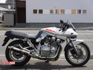 スズキ/GSX1100S KATANA 240Km/Hメーター 社外アルミタンク ヨシムラサイクロンフルエキ クアンタムリアサス