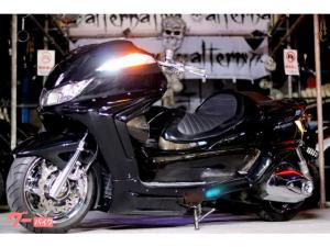 ヤマハ/グランドマジェスティ250ALT25ロンホイWブレンボDISKスピーカー6個シーケンシャルLEDウインカー&テールフルカスタム