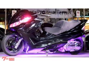 スズキ/スカイウェイブ250 タイプSaprロンホイMAC製チョップフェイス七色LEDフルカスタム