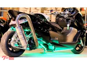 ヤマハ/グランドマジェスティ250ALT25ロンホイSuperとぐろ重低音マフラー七色LEDブランドエアロ一流フルカスタム