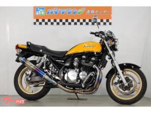 カワサキ/ZEPHYR750 イエローボール ストライカーマフラー エンジンガード バックステップ
