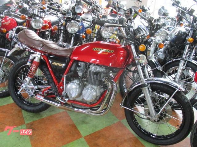 ホンダ CB400F(398cc)キャンディーレッド・スポーク新品張替え・398登録車の画像(東京都