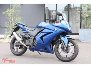 カワサキ/Ninja 250R FI 2011年モデル メタリックインペリアルブルー 社外マフラー装着