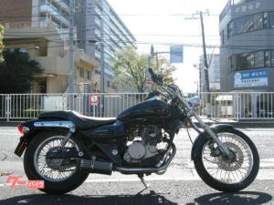 カワサキ/エリミネーター125 原付二種アメリカン カスタムマフラー ブラック BN125A