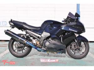 カワサキ/ZZ-R1400 2008年モデル ノジマフルエキDLC-TITAN SINGLE カーボンミラー バックステップ