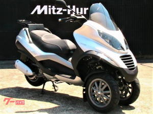PIAGGIO/MP3 250RL 可動式リアキャリア装着 アンテナ分離式2輪車専用ETC車載器搭載