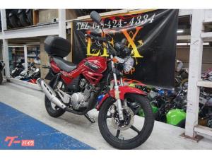ヤマハ/YBR125 レッド ノーマル トップケース付