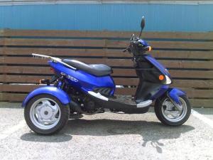 トライク/トライク 海外製PGO150TR3 ブルー 側車付軽二輪