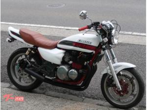 カワサキ/ZEPHYR400 ホワイトレッドFXカラー 集合管 タックロールシート