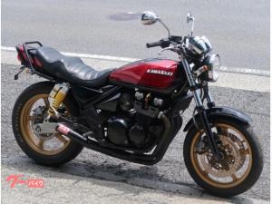 カワサキ/ZEPHYR400 ブラックレッドボール UPハンドル 集合管