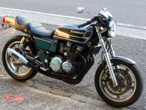 カワサキ/ZEPHYR400 ブラックシルバー カフェ仕様 FX外装 ミッドナイトモナカ菅