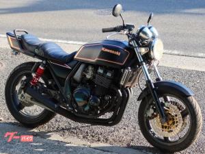 カワサキ/ZRX400 マットブラックMK2カラー 桜色ライン 集合管 タックロールシート
