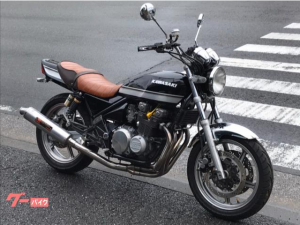 カワサキ/ZEPHYR400 タイガーカラー メッキフェンダー BEET 吉村サイクロン タックロールシート