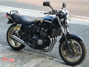 カワサキ/ZRX400 ブラック メッキ集合管 GOLDホイール BEET タンデムバー