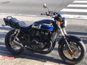 カワサキ/ZRX400 ブルーFXカラー UPハンドル 集合管 タックロールシート タンデムバー