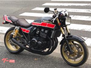 カワサキ/ZRX400 ブラックレッドストロボカラー セパハン マットブラック集合管