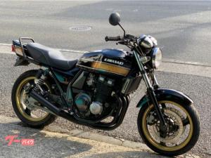 カワサキ/ZRX400-II ブラックゴールドラメ 集合管 タンデムバー