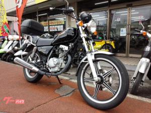 スズキ/GN125-2F リヤボックス付き ブラック