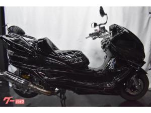 ヤマハ/マジェスティC フルブラックカスタム LED4スピーカー改マフラー