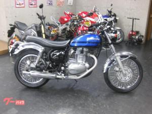 カワサキ/エストレヤRS W3黒青カラー 新品前後タイヤ付き 2001y