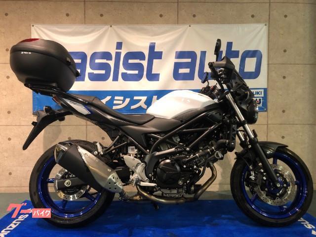 スズキ SV650 ABS リアキャリア スクリーン等装備の画像(京都府