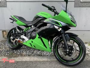 カワサキ/Ninja 400R ライムグリーン 車検2年受け渡し アクラボビッチマフラー フェンダーレスカスタム