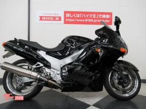 カワサキ/ZZ-R1100 逆車 スクリ-ン・カスタムマフラ- ブラック