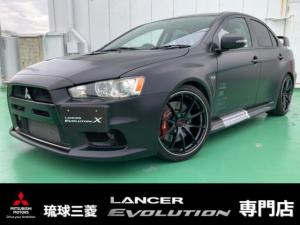 三菱 ランサー GSRエボリューションX ファイナルコンセプト・レカロシート・5速マニュアルミッション・ターボ車・大径レイズ製アルミホイール・HKSインテークパイプ・車高調&キャンバー調整・追加インジェクタ・HDDナビ・キーレス・HID