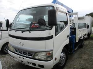 日野 デュトロ 2トン積載車3段クレーン付き