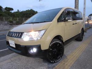 三菱 デリカD:5 G パワーパッケージ ベージュオールペイント 新品タイヤ 4WD切り替え