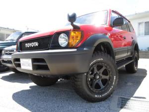 トヨタ ランドクルーザープラド TX オールペイント リフトアップ FUEL17アルミ BFグットリッチMTタイヤ 丸目仕様