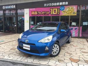 トヨタ アクア S アウトレット車両 純正ナビ TV スマートキー