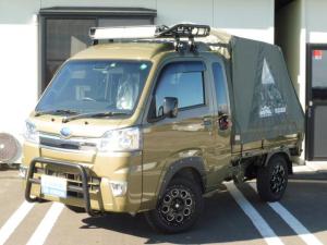 スバル サンバートラック グランドキャブスマートアシスト キャンピングKIT 取付車 軽キャン LED 4WD室内ウッドデッキ仕様 バグトラックフルキット