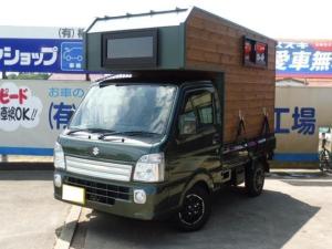 スズキ キャリイトラック KCスペシャル 4WD 社外キャンピングシェル エアコン・パワステ ブロックタイヤ 12AW