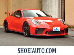 ポルシェ 911 911GT3 6MT Fリフト レザーP カーボンP Clubsport package PTV Red 12 o'clock スポーツクロノ フルバケットシート ミラーカーボン ブラックデザインLEDヘッドライト