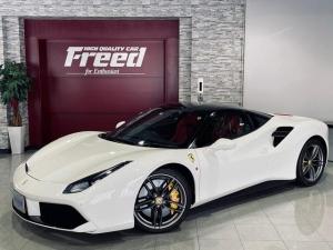 フェラーリ 488GTB ベースグレード フロントスポイラー部カーボン調ラッピング フロントフルプロテクション施工済み AFSヘッドライト・システム 20インチ・マットグリジオコルサ・鍛造AW フロント・サスペンション・リフトシステム
