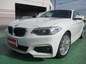 BMW 2シリーズ 220iクーペ Mスポーツ ワンオーナー ガレージ保管 ハーフレザー 新車時5年コーティング ディーラー車検2回記録簿あり スマートキー 禁煙 ETC ナビ Bカメラ フィルム AWホイールコーティング Mバッジ