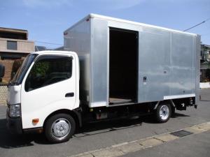 トヨタ ダイナトラック  アルミバン 引出パワーゲート ワイドロング 内寸448x208x217 2トン積載 スライドドア 4Lターボ 5速 TKG-XZU710 最大積載量2000キロ 車両総重量5875キロ
