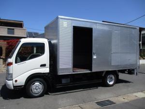 トヨタ トヨエース  アルミバン 垂直パワーゲート ワイドロング 内寸447x207x206 2トン積載 スライドドア 4.6Lノンターボ 6速 KK-XZU412 最大積載量2000キロ 車両総重量5695キロ
