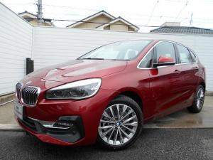 BMW 2シリーズ 218dアクティブツアラー ラグジュアリー ベージュレザー LEDヘッドライト 17AW ACC ヘッドアップディスプレイ 電動リアゲート 禁煙 デモカー