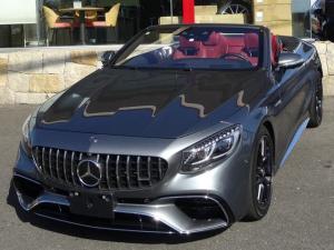 メルセデスAMG Sクラス S63 4マチック+ カブリオレ 4WD ベージュ幌/赤革